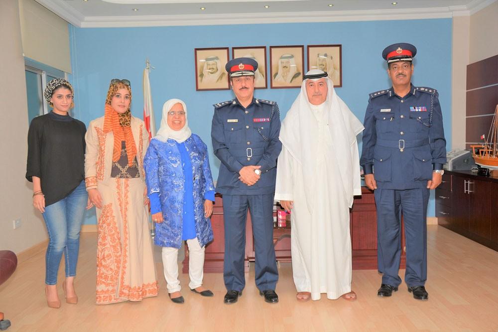 مدير شرطة الشمالية يلتقي رئيس جمعية البحرين لتسامح