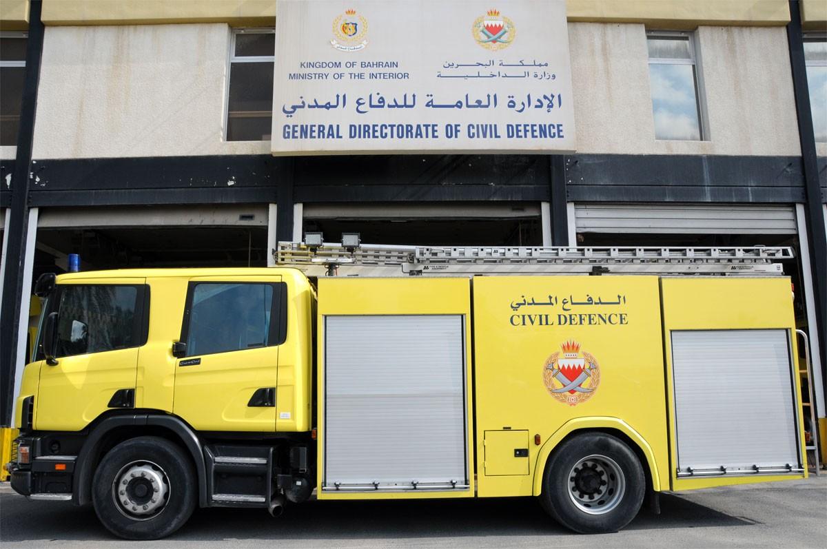 الدفاع المدني يخمد حريقا اندلع بمحل تجاري في جدحفص
