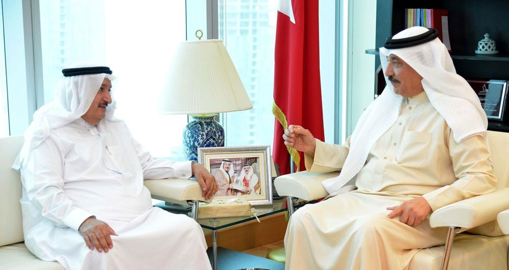 حميدان يستقبل عثمان شريف عضو مجلس إدارة منظمة العمل العربية