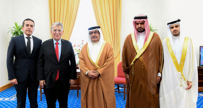 سمو الشيخ علي بن خليفة يستقبل كبير مستشاري الرئيس التركي السابق