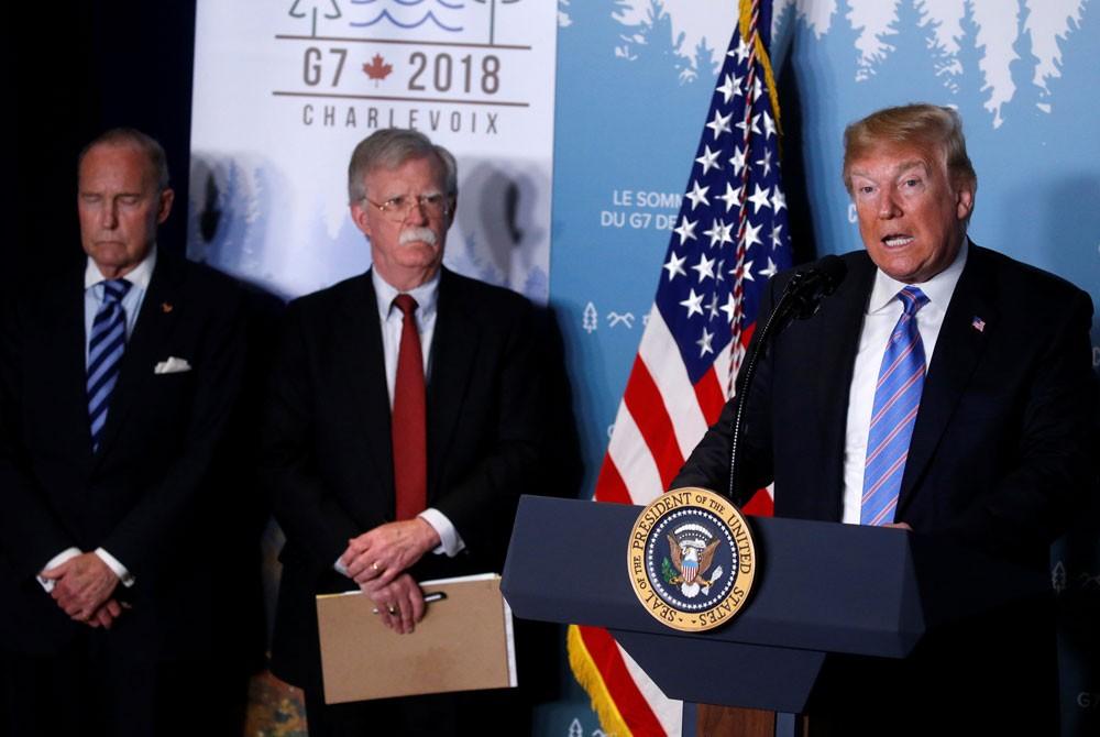 ترمب: قمة الـ 7 تعهدت بمراقبة الطموحات النووية لإيران
