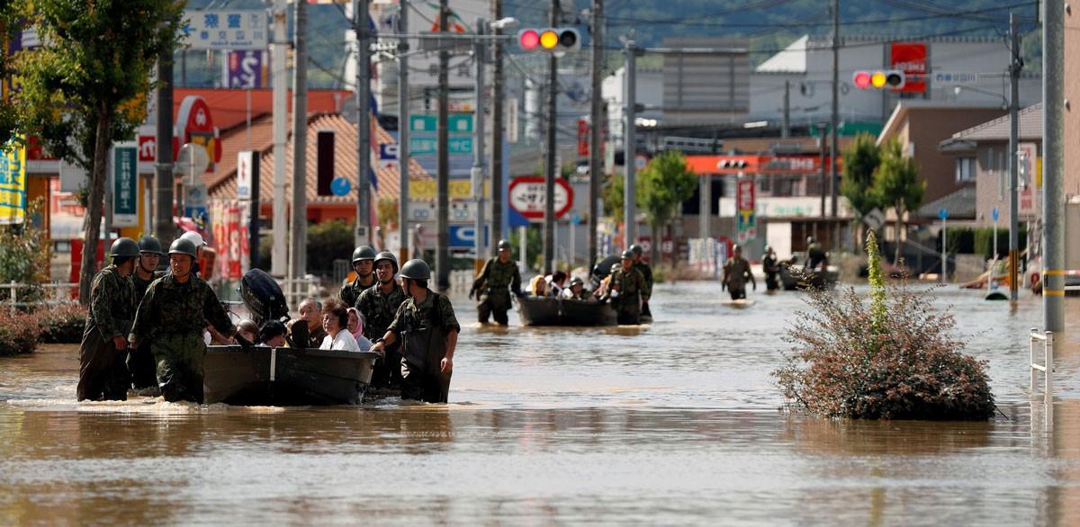 اليابان: نحو 200 قتيل جراء الأمطار الطوفانية والسيول
