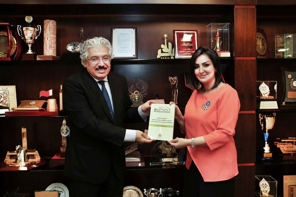 أ.د. حمزة : جامعة البحرين تفخر بأكاديمييها المساهمين في دفع عملية التنمية والتخطيط المستقبلي