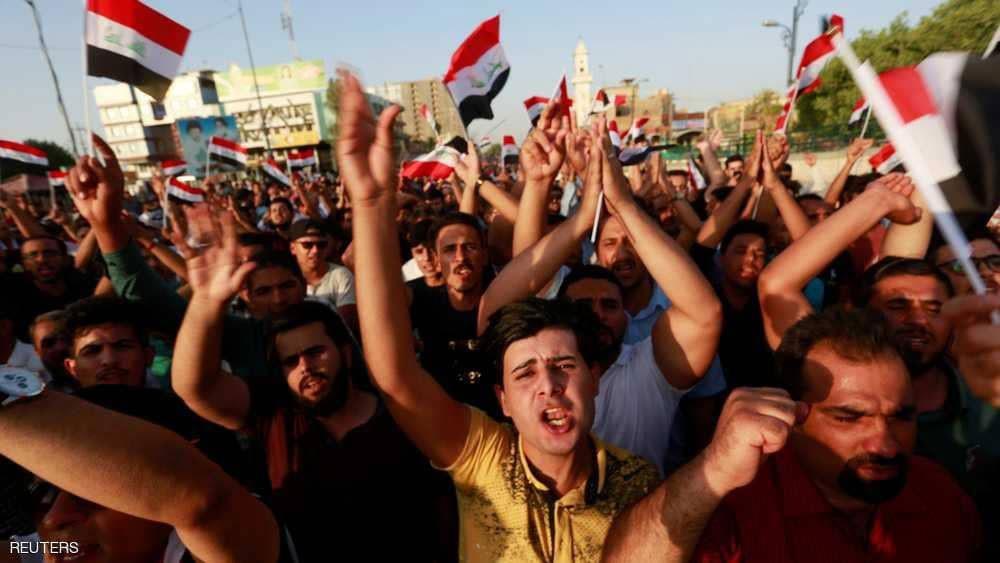 آلاف العراقيين يتظاهرون في بغداد والمدن الكبرى