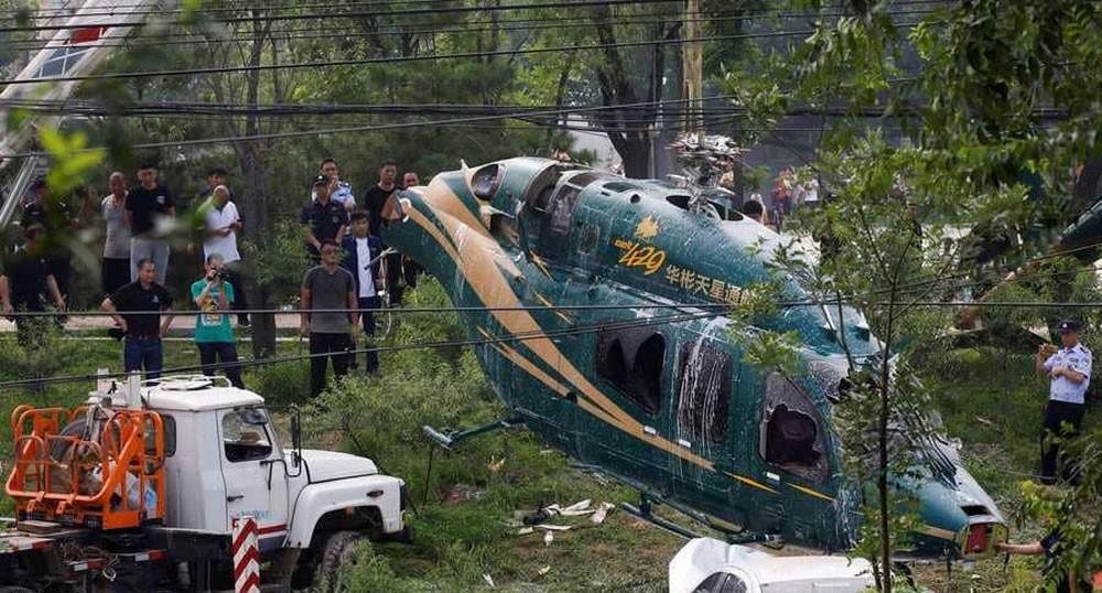 تحطم طائرة هليكوبتر في الصين