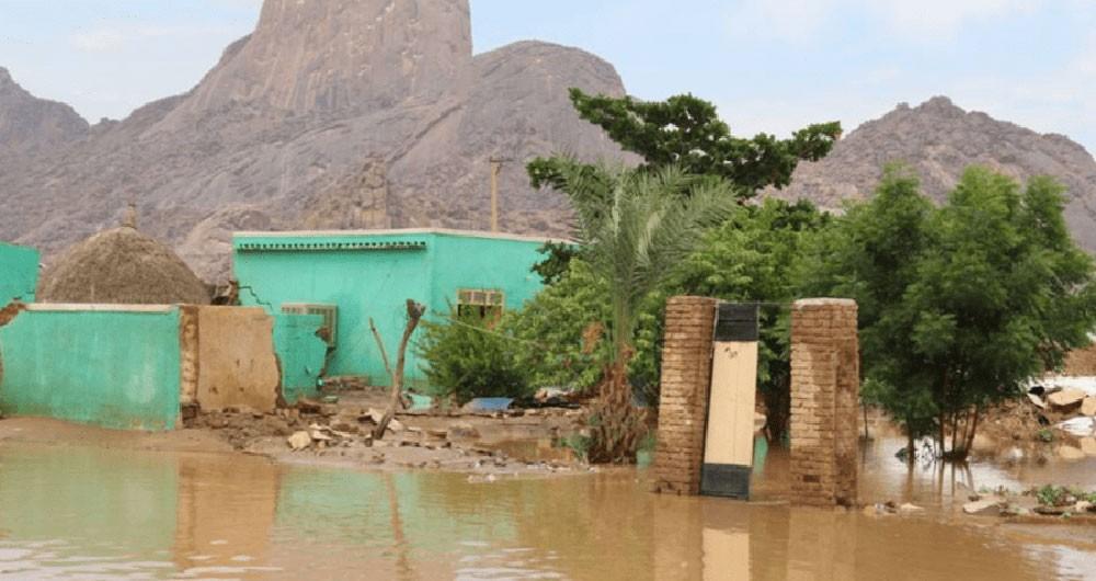فيضانات السودان تقتل امرأة.. وتدمر عشرات المنازل