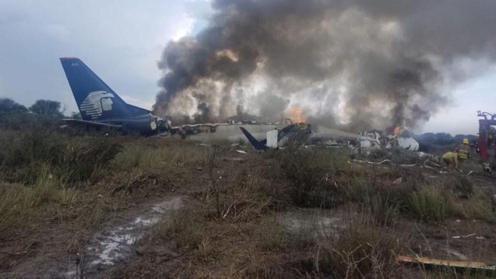 المكسيك: 85 مصابا إثر سقوط طائرة ركاب بدورانغو