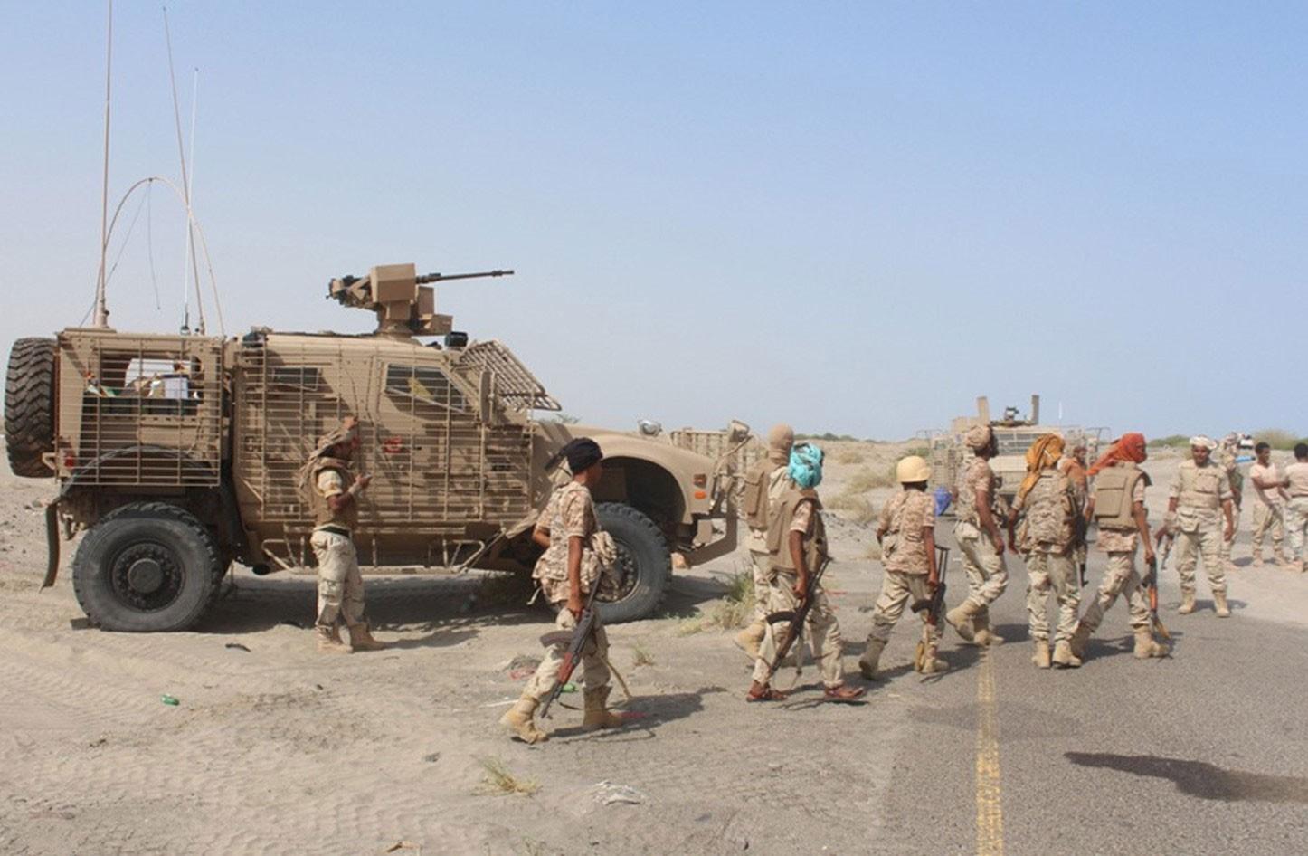 الجيش اليمني يتقدم في مديرية السوادية في البيضاء
