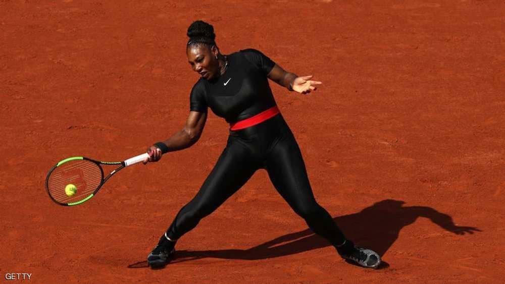 """منع سيرينا ويليامز من لباسها المفضل في """"فرنسا المفتوحة"""""""