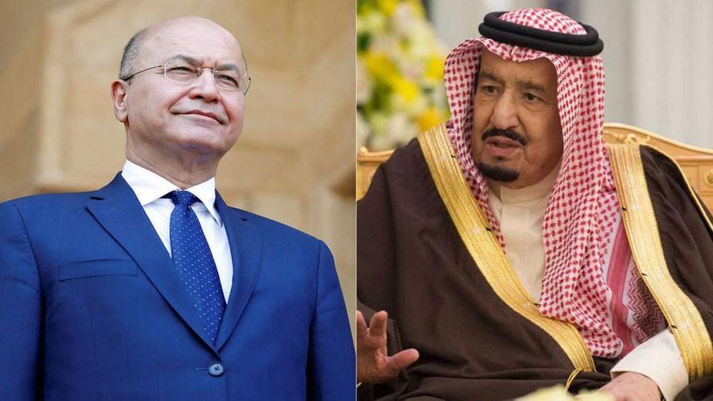 الملك سلمان يهنئ برهم صالح بانتخابه رئيساً للجمهورية