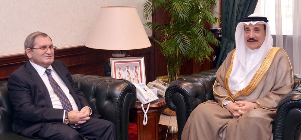 حميدان يشيد بدور سفير روسيا الاتحادية في تعزيز العلاقات مع البحرين