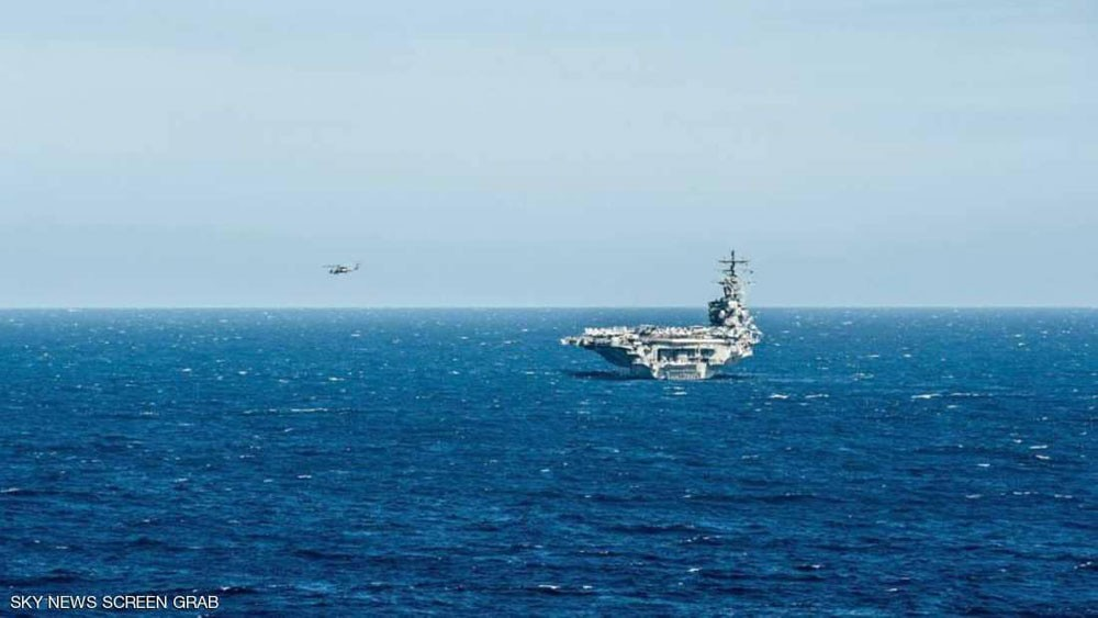 تحطم طائرة للبحرية الأميركية على حاملة الطائرات رونالد ريغان