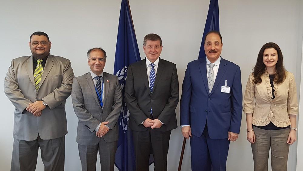 حميدان يعقد لقاءات مع مدير عام منظمة العمل الدولية ورؤساء المنظمات والوفود بجنيف