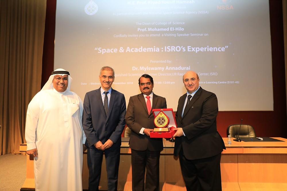 عالم الفضاء الهندي د. أنادوراي يحاضر بجامعة البحرين