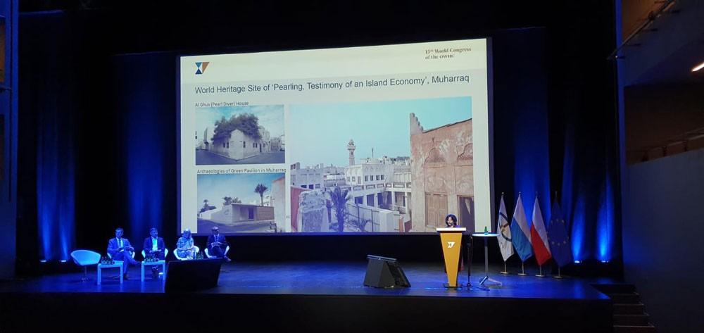 الشيخة مي تستعرض تجربة المحرق كنموذجٍ للمدن التاريخية المستدامة
