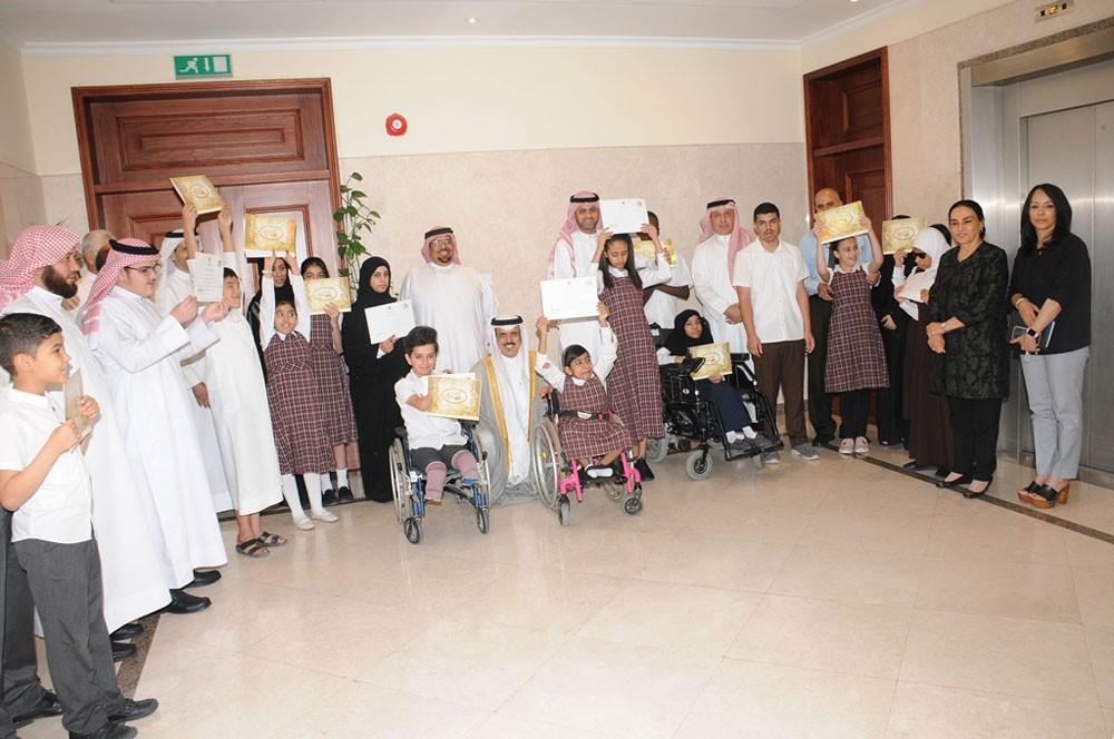 وزير التربية يكرّم عددًا من الطلبة المتميزين من ذوي الاحتياجات الخاصة