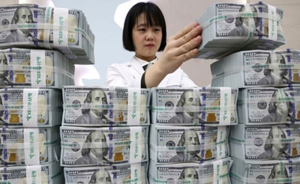 تراجع احتياطي النقد الأجنبي في كوريا الجنوبية