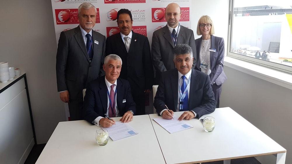 التوقيع مع  شركات عالمية للمشاركة في معرض البحرين الدولي للطيران 2020