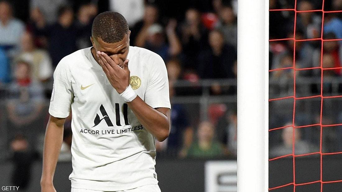 هزيمة مفاجئة لباريس سان جيرمان أمام رين