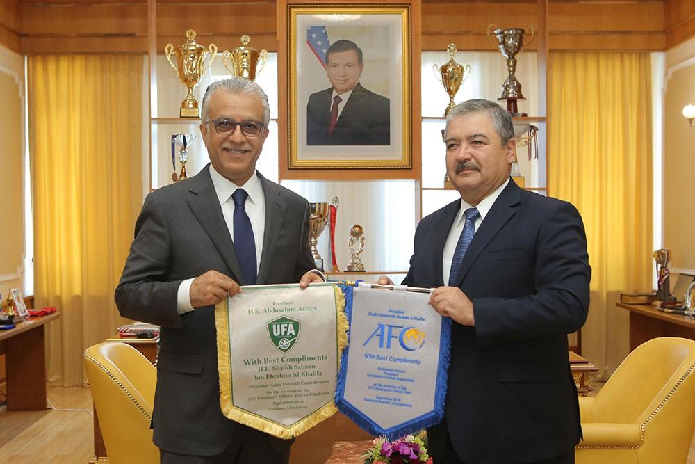 سلمان بن ابراهيم ينقل تحيات جلالة الملك لرئيس جمهورية أوزبكستان
