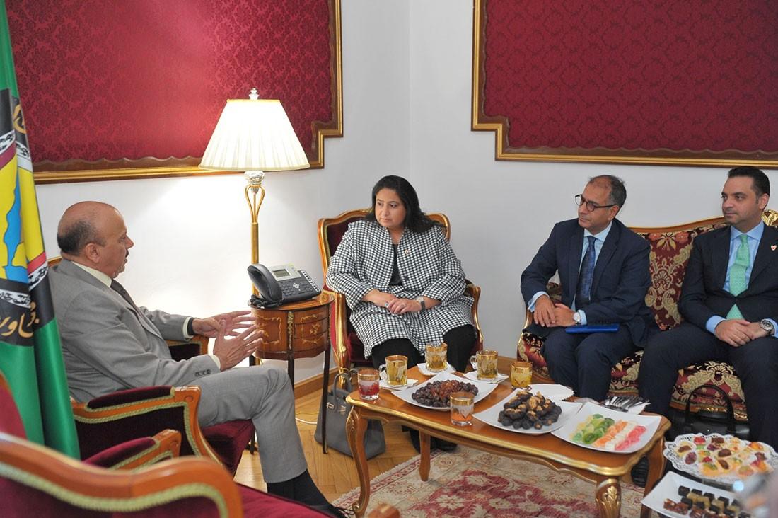 وكيل وزارة الخارجية تجتمع بالأمين العام لمجلس التعاون لدول الخليج العربية