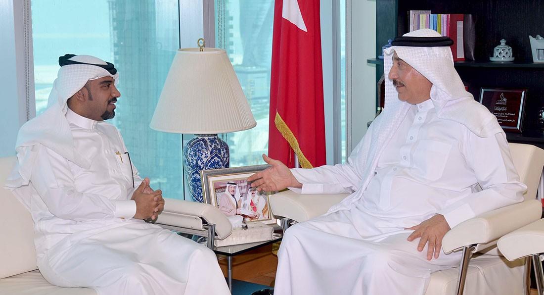 حميدان يلتقي النائب الدوسري ويؤكد الارتقاء بالخدمات العمالية والاجتماعية للمجتمع البحريني