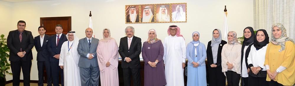 الرئيس التنفيذي لهيئة جودة التعليم والتدريب تهنئ جامعة البحرين