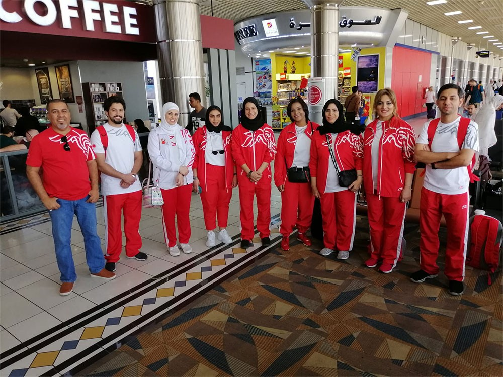 بعثة البحرين تغادر للكويت للمشاركة في دورة رياضة المرأة الخليجية