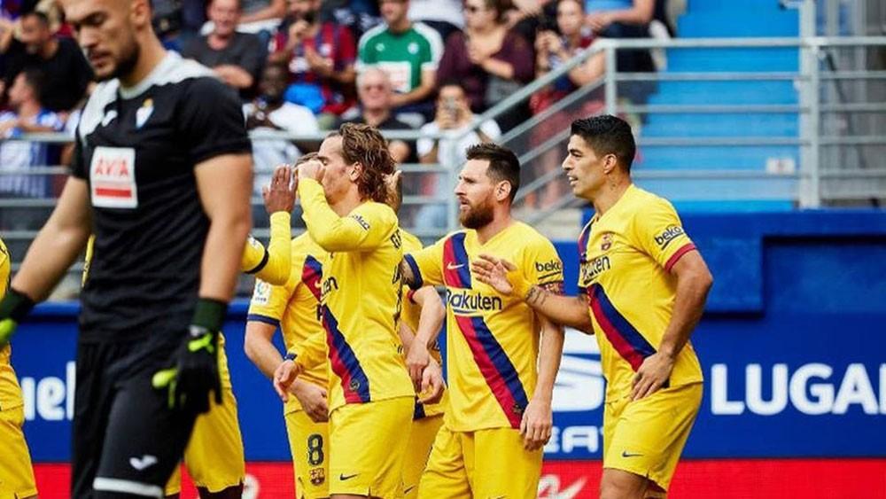 """ثلاثي برشلونة """"المرعب"""" يبدأ تهديد فرق إسبانيا"""