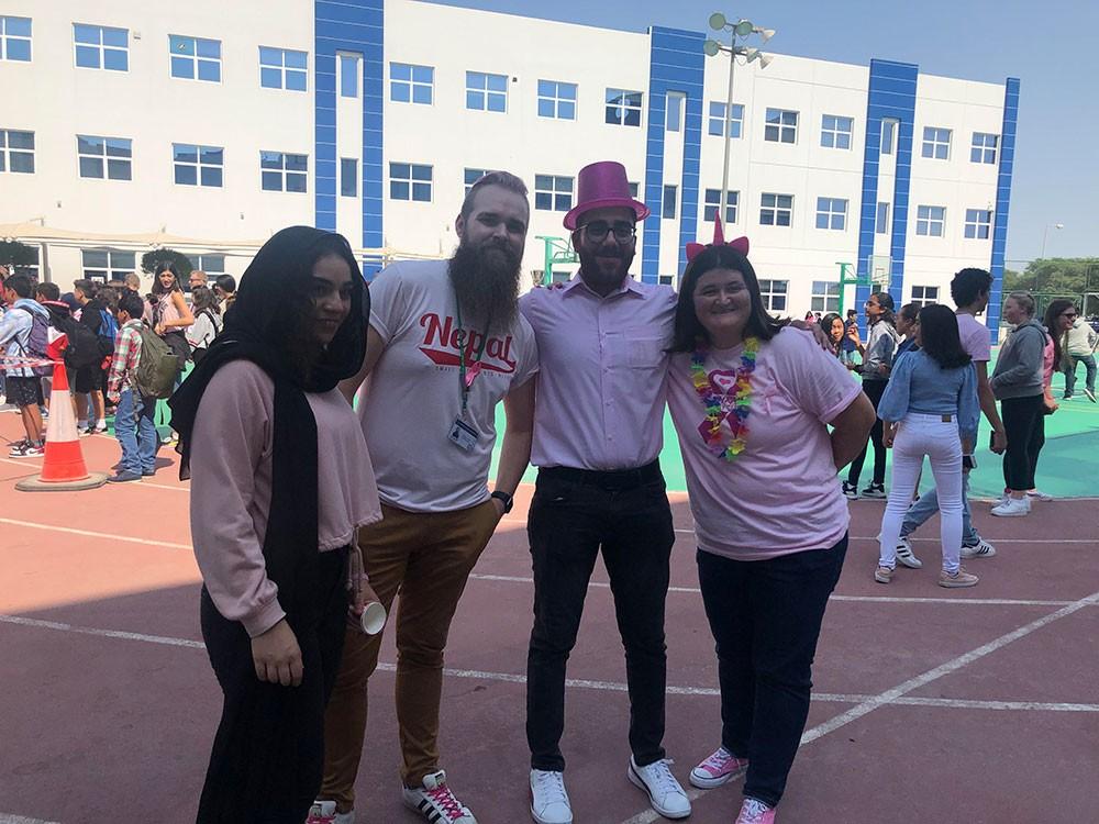 المدرسة البريطانية تشارك بحملة نشر الوعي بسرطان الثدي