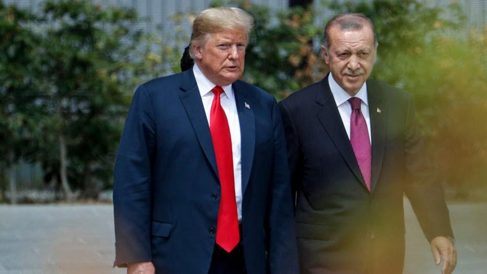 ترمب خلال لقائه أردوغان: وقف إطلاق النار في سوريا صامد