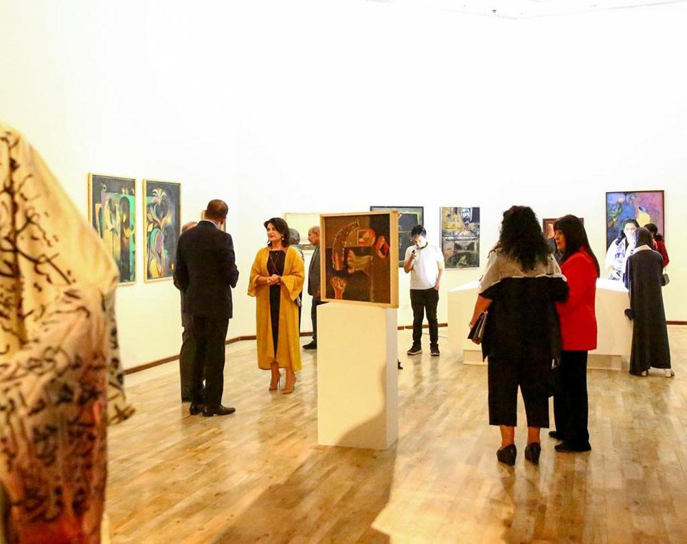 افتتاح معرض استعادي للفنان عبد الله يوسف في مركز الفنون