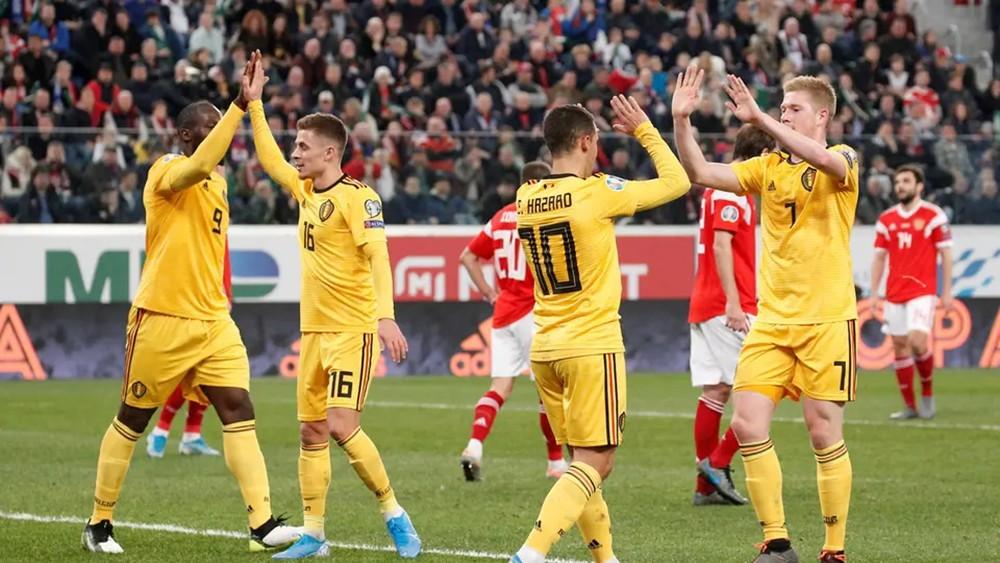بلجيكا تكتسح روسيا في تصفيات كأس أوروبا