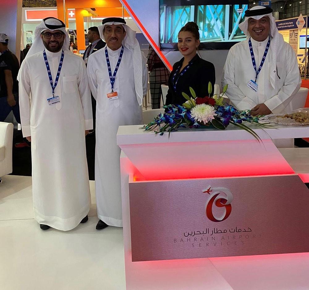 """شركة خدمات مطار البحرين """"باس"""" تشارك في معرض دبي للطيران"""