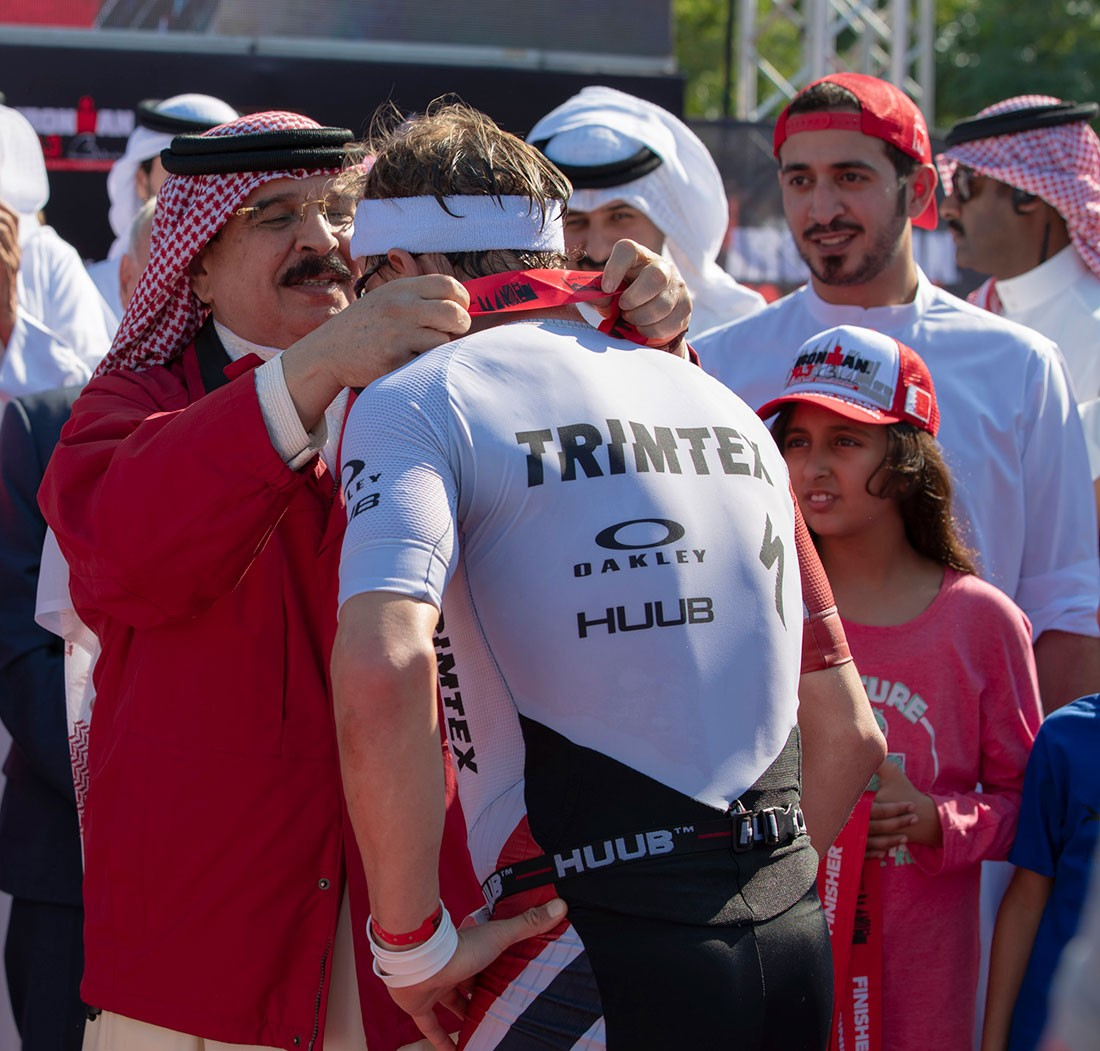 جلالة الملك المفدى يشهد ختام منافسات بطولة الشرق الأوسط للرجل الحديدي