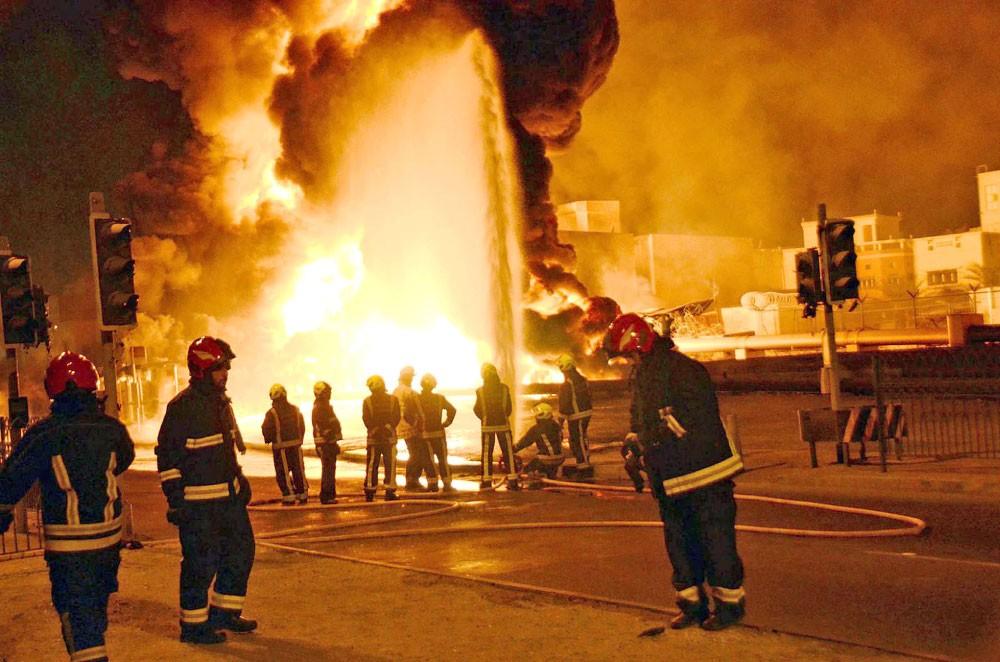 وزير الداخلية: حريق أنبوب النفط عمل إرهابي خطير بتوجيه إيراني مباشر