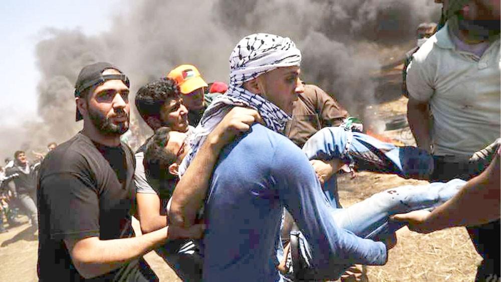 3 شهداء و525 مصابا برصاص الاحتلال في غزة