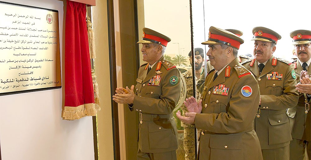 رئيس الأركان يفتتح نادي ضباط المدفعية الملكية
