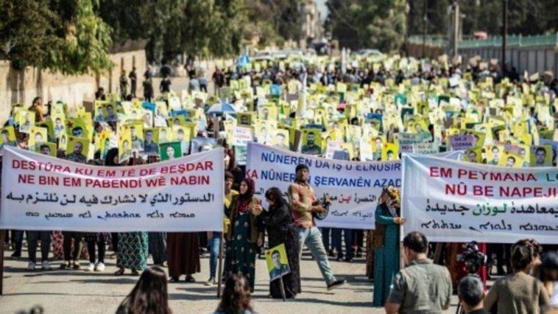 """تظاهرة في سوريا تنديدا بـ """"إقصاء"""" الأكراد"""